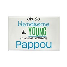 Handsome and Young Pappou Rectangle Magnet (10 pac