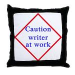 Writer at Work Throw Pillow