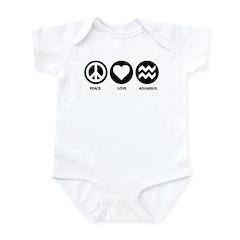 Peace Love Aquarius Infant Bodysuit