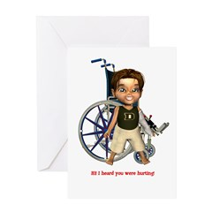 Karlo Broken Left Arm Greeting Card