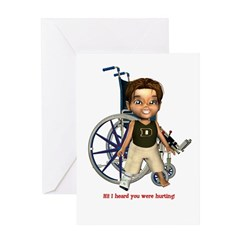 Karlo Broken Right Leg Greeting Card