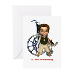 Karlo Broken Right Arm Greeting Card