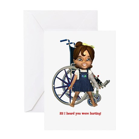 Katrina Broken Left Arm Greeting Card