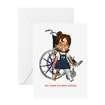 Katrina Broken Left Leg Greeting Card
