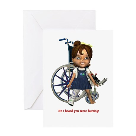 Katrina Broken Right Leg Greeting Card