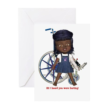 Katy Broken Left Arm Greeting Card