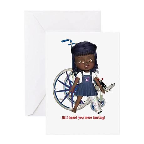 Katy Broken Left Leg Greeting Card