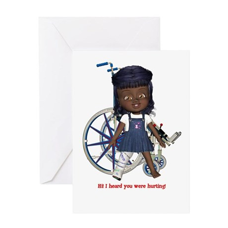 Katy Broken Right Leg Greeting Card