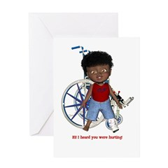 Keith Broken Left Leg Greeting Card