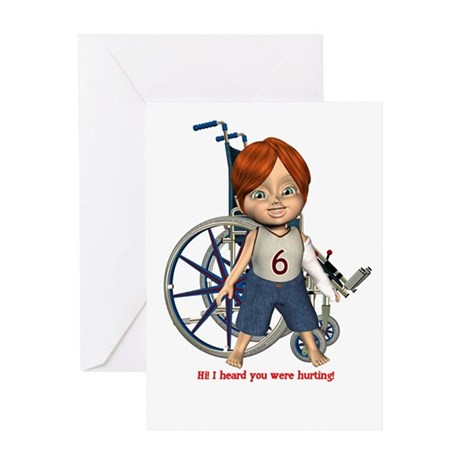 Kevin Broken Left Arm Greeting Card