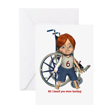 Kevin Broken Right Arm Greeting Card