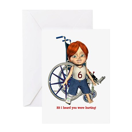 Kevin Broken Right Leg Greeting Card