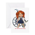 Kit Broken Left Arm Greeting Card