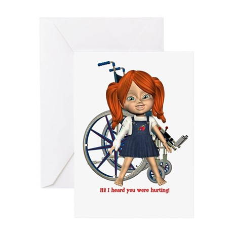 Kit Broken Right Arm Greeting Card