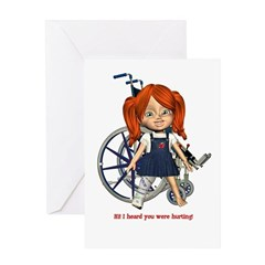 Kit Broken Right Leg Greeting Card