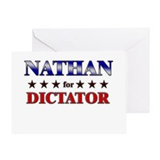 NATHAN for dictator Greeting Card