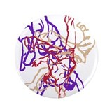 "Purple, beige, red breakdance 3.5"" Button"