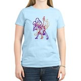 Purple, beige, red breakdance T-Shirt
