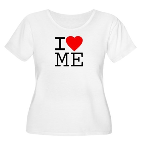 I Love Me Plus Size Scoop Neck Shirt