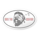 Obey the Bouvier! Oval Stickers