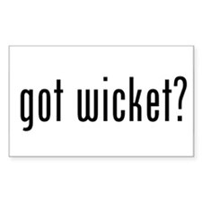 got wicket? Rectangle Decal