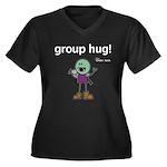 Thog: group hug! Women's Plus Size V-Neck Dark T-S