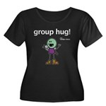 Thog: group hug! Women's Plus Size Scoop Neck Dark