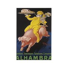 Alhambra Vintage Label Rectangle Magnet
