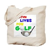 Ashtyn Lives for Golf - Tote Bag