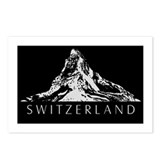 Swiss foil Postcards (Package of 8)