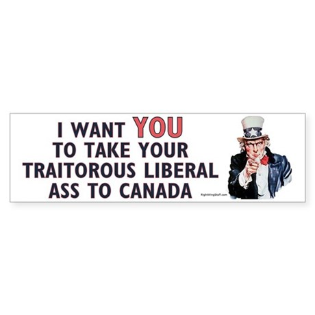 Traitorous Liberal Bumper Sticker