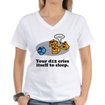 Your d12 Cries... Women's V-Neck T-Shirt