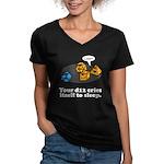 Your d12 Cries... Women's V-Neck Dark T-Shirt
