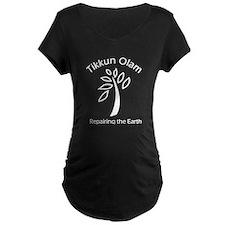Tikkun Olam Repairing the Earth Maternity Shirt