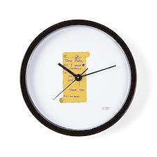 Foilist Wishlist Wall Clock