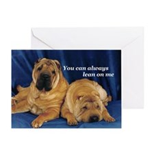 Lean on me Pei Greeting Card