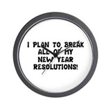 Breaking Resolutions Wall Clock