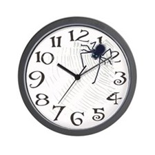 Furry Spider Wall Clock