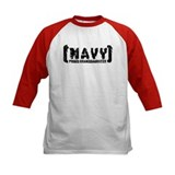 Proud NAVY Grnddtr - Tattered Style Tee