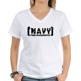 Proud NAVY Grnddtr - Tattered Style Shirt