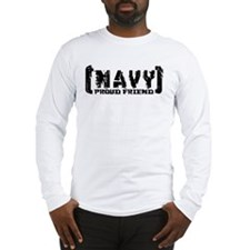 Proud NAVY Frnd - Tattered Style Long Sleeve T-Shi