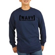Proud NAVY Frnd - Tattered Style T