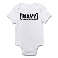 Proud NAVY FthrNlaw - Tattered Style Infant Bodysu