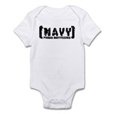 Proud NAVY BF - Tattered Style Infant Bodysuit