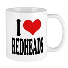 I Love Redheads Coffee Mug