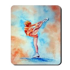 Peaches & Cream Ice Skate Mousepad