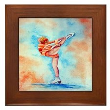 Peaches & Cream Ice Skate Framed Tile