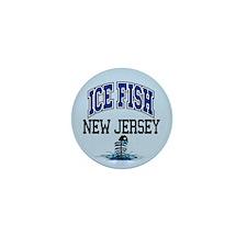 Ice Fish New Jersey Mini Button
