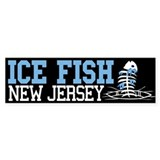 Ice Fish New Jersey Bumper Bumper Sticker