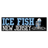 Ice Fish New Jersey Bumper Car Sticker